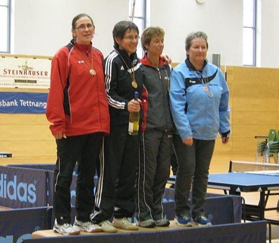 Frauke Machelett bei der Siegerehrung