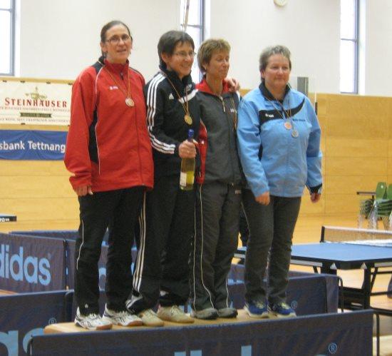 Frauke Machelett (ganz links) bei der Seniorenmeisterschaft